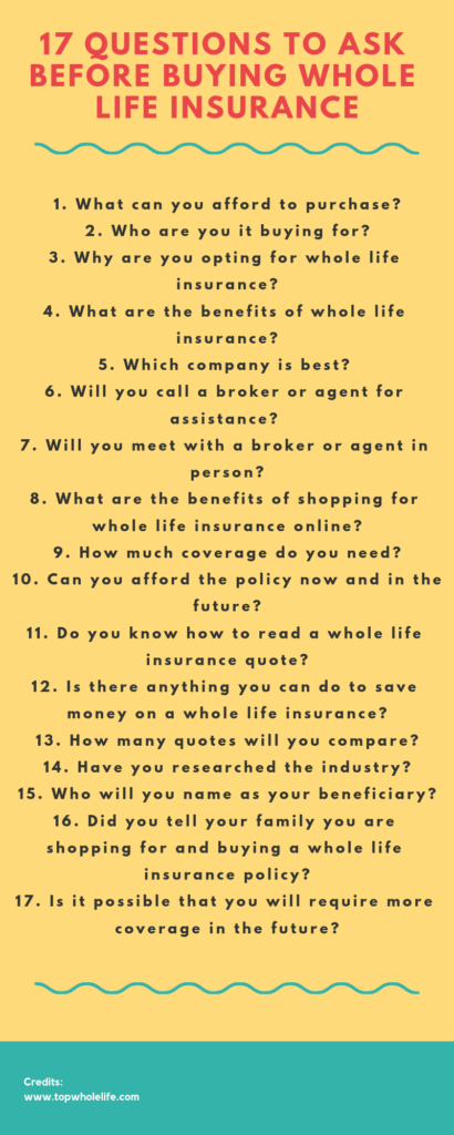 17 Questions to Ask Before Buying Whole Life Insurance ...